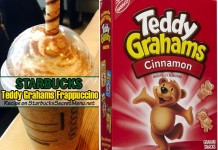 starbucks teddy grahams cracker frappuccino