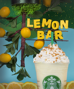 lemon bar frappuccino fan flavor