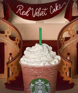 red velvet cake frappuccino fan flavor