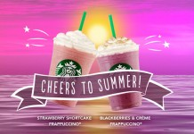 Strawberry Shortcake and Blackberries and Creme Frappuccino