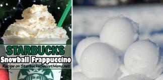 starbucks snowball frappuccino