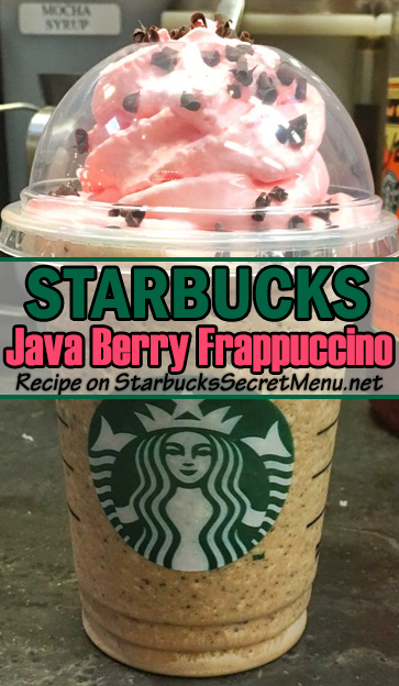Java Berry Crunch Frappuccino