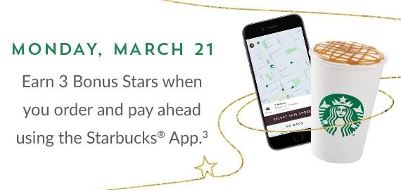 Monday March 21 3 bonus stars when you pay ahead