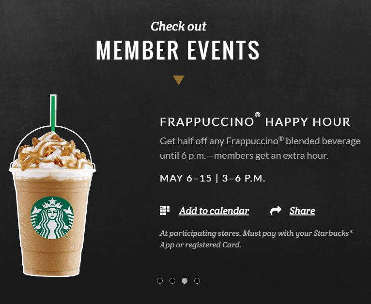 Frappuccino Happy Hour May 6 - 15, 2016