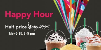 happy hour frappuccinos 2016
