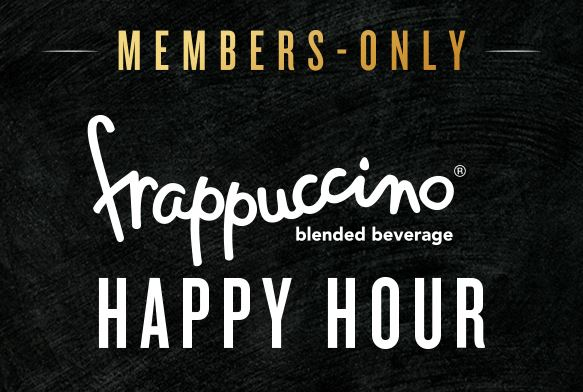 members only frappuccino happy hour