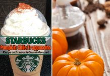 Starbucks Pumpkin Chile Frappuccino