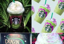 Starbucks Dragon Frappuccino Collage
