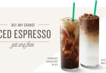 BOGO starbucks espresso