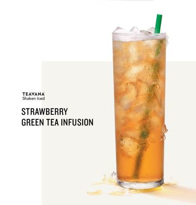 Strawberry green tea infusion