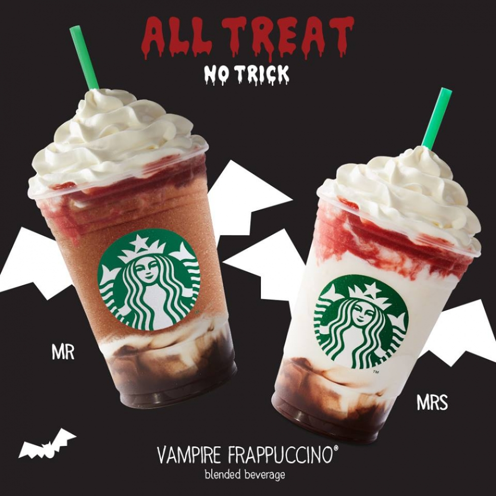 Starbucks Mr and Mrs Vampire Frappuccino