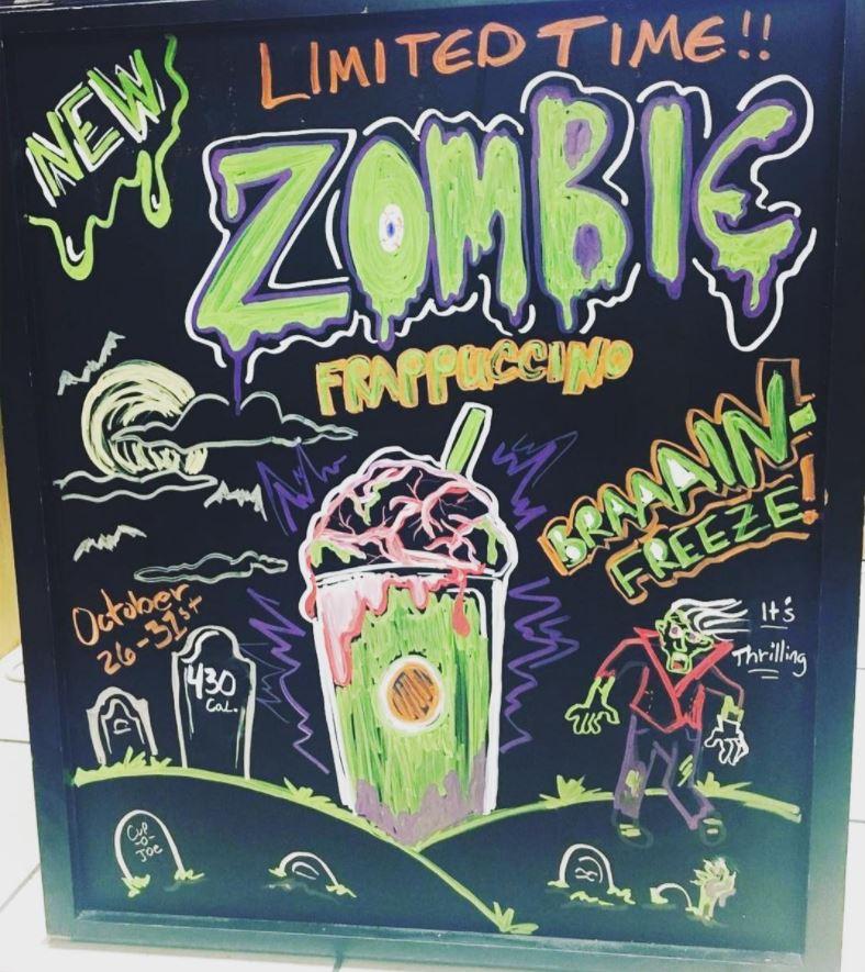 Zombie Frappuccino Starbucks