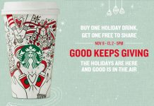 Starbucks BOGO holiday drink