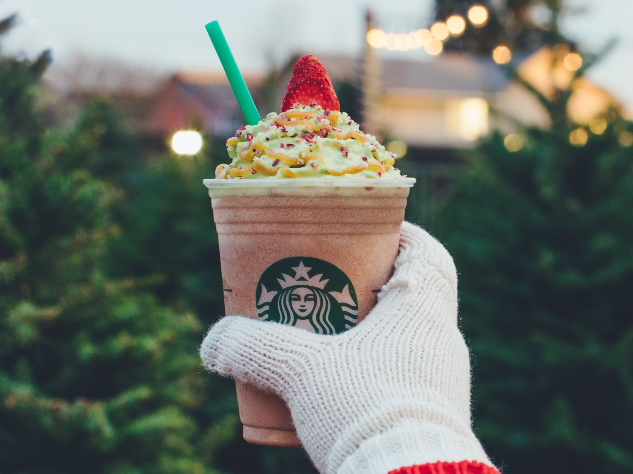 Christmas Tree Frappuccino