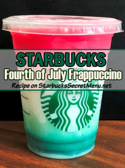 Fourth of July Frappuccino