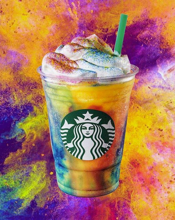 Tie Dye Frappuccino Starbucks Secret Menu Starbucks